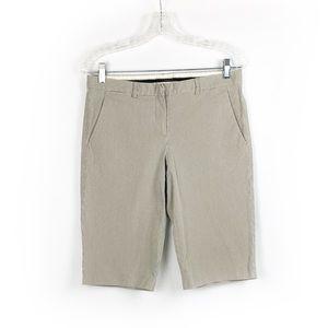 Theory Chino Striped Shorts size 8 Gray